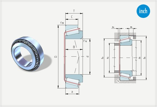 Tapered roller bearings inch measures